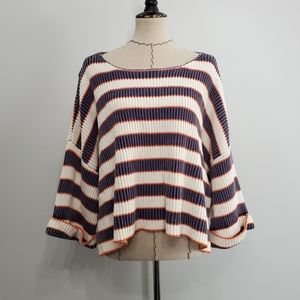By together Striped Pullover Sweater NWOB